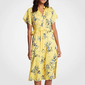 Ann Taylor 0P Boho Floral Midi Dress $159.00 NWT
